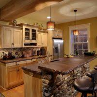 L Shaped Kitchen Islands With Seating Rustic L Shape Kitchen Design And Decoration Using Rustic Solid