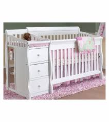 Convertible Crib And Changer Combo by 4 In 1 Crib With Changing Table Georgi Furniture