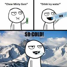 So Cold Meme - dopl3r com memes chew minty gum drink icy water so cold