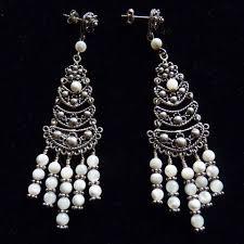 pearl chandelier earrings white of pearl sterling silver chandelier earrings