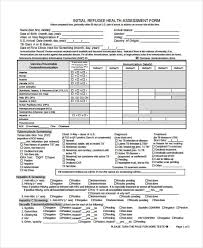 health assessment form example