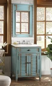 Cottage Look Abbeville Bathroom Sink Vanity With Mirror CF - Bathroom sink mirror