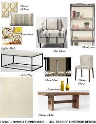 Jill Seidner Interior Design Online by Hollywood Hills Ca Condo Living Room Furnishings Concept Board