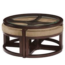 Overstock Round Coffee Table - juniper mink brown wood round cocktail table and 4 piece stools