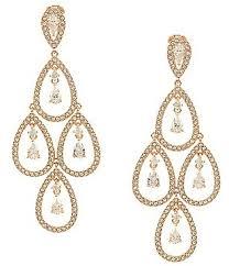 teardrop chandelier earrings nadri women s chandelier earrings dillards