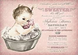 vintage baby shower invitation for baby bath by jjmcbean