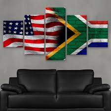 Flag Rsa Hd Printed Limited Edition America South Africa Flag Canvas
