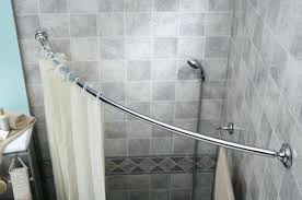 Nickel And Bronze Decorative Curtain by Curved Shower Curtain Rod With Bright Finish Main Picture Double