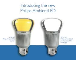 yellow led light bulbs philips ultra efficient ambientled bulb now available in stores