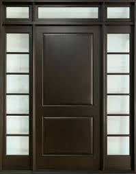 Interior Doors Solid by Custom Front Door Single With 2 Sidelites Solid Wood With