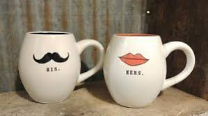 his and hers mug dunn his and hers mugs mustache and mugs new ebay