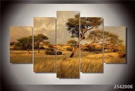 chambre de d馗ompression hd imprimé afrika savane peinture sur toile chambre décoration d