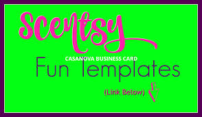 scentsy print your own business cards template