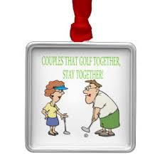 couples golf ornaments keepsake ornaments zazzle