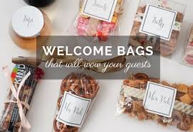 welcome to our wedding bags wedding wednesday what we put in our wedding welcome bags the