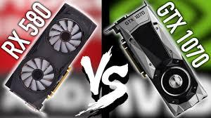 xfx rx 580 black vs gtx 1070 fe 1 1 testing youtube