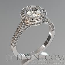 palladium engagement rings bezel set micro pave brilliant 0 75 2 00ct halo diamond engagement