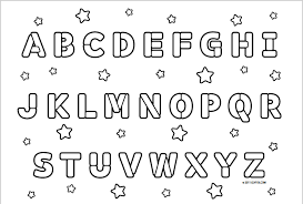 fancy design abc coloring pages for kids printable free printable