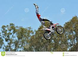 freestyle motocross movies hollywood stunt driver 2 show in movie world gold coast editorial