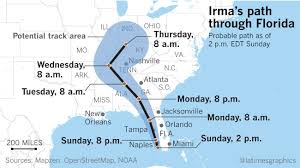 Florida On Map by Hurricane Irma Brings Chaos To Florida What We Know So Far La Times