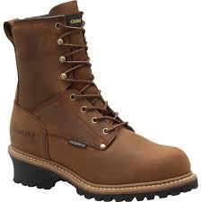 boots uk waterproof carolina 8 in waterproof insulated eh steel toe logger boots ca5821