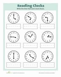 it u0027s time worksheet education com