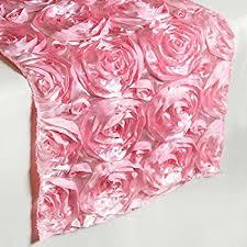 pink rosette table runner amazon com efavormart wonderland rosette table runners pink home