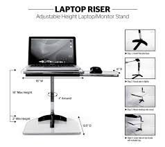 Adjustable Height Laptop Desk by Height Adjustable Laptop Riser Laptop Monitor Riser Laptop