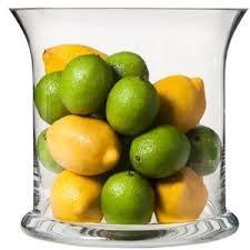 Fruit Vase Filler Threshold Glass Hurricane Vase With Lemon And Lime Vase Fillers