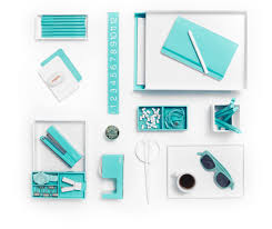 Office Desk Accessories by White With Pops Of Aqua Is Day At The Beach Poppin Desk