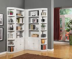Corner Bookcase Ideas White Mid Century Corner Bookcase And Shelves Surripui Net