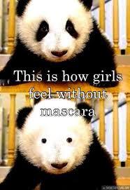 Panda Mascara Meme - how girls feel without mascara the meta picture