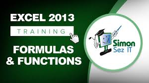 microsoft excel 2013 training formulas and functions excel