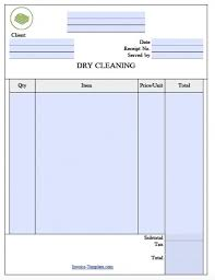 free laundromat dry cleaning invoice template excel pdf