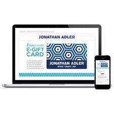 electronic gift cards e gift card modern gifts jonathan adler