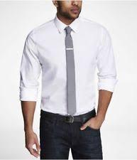 banana republic solid slim fit dress shirts for men ebay