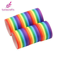 gross grain ribbon lucia crafts 5y lot 25mm rainbow printed grosgrain ribbon sewing
