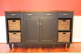 hand made solid maple basket credenza by creation cabinetry