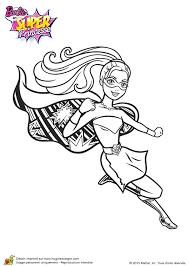 Coloriage Barbie Super Princesse une super héroïne