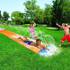 Best Backyard Water Slides Amazon Com Lawn Water Slides Toys U0026 Games