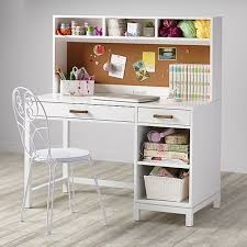 White Office Desk With Hutch Cargo Desk White The Land Of Nod Regarding Popular