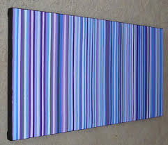 shades of purple and blue modern stripes painting