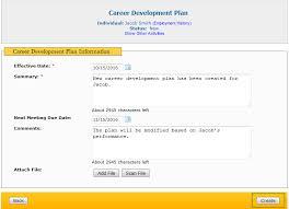 career development plans create new career development plan