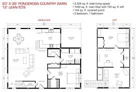 Barn Homes Floor Plans Floor Plan Pre Designed Ponderosa Country Barn Home Kit Image