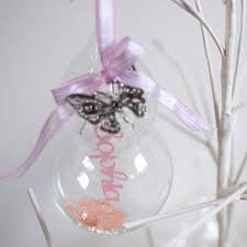 personalised papercut baby u0027s first christmas bauble crafty