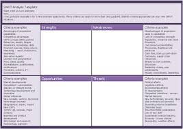 new business opportunity swot analysis matrix template landscape