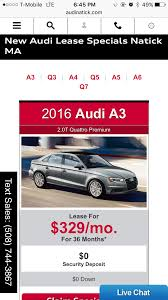 audi lease forum 2017 audi a3 lease offer from today is it worth pursuing
