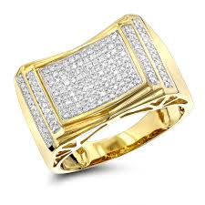 gold pave rings images Pave diamond ring for men 10k yellow gold white gold rose gold 1 2ct jpg