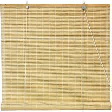 Walmart Blinds In Store Bamboo Roll Up Blinds Natural 72