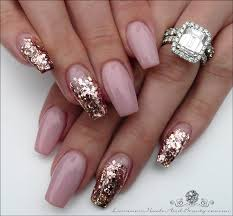 luminous nails beauty gold coast qld pink with gold and pink